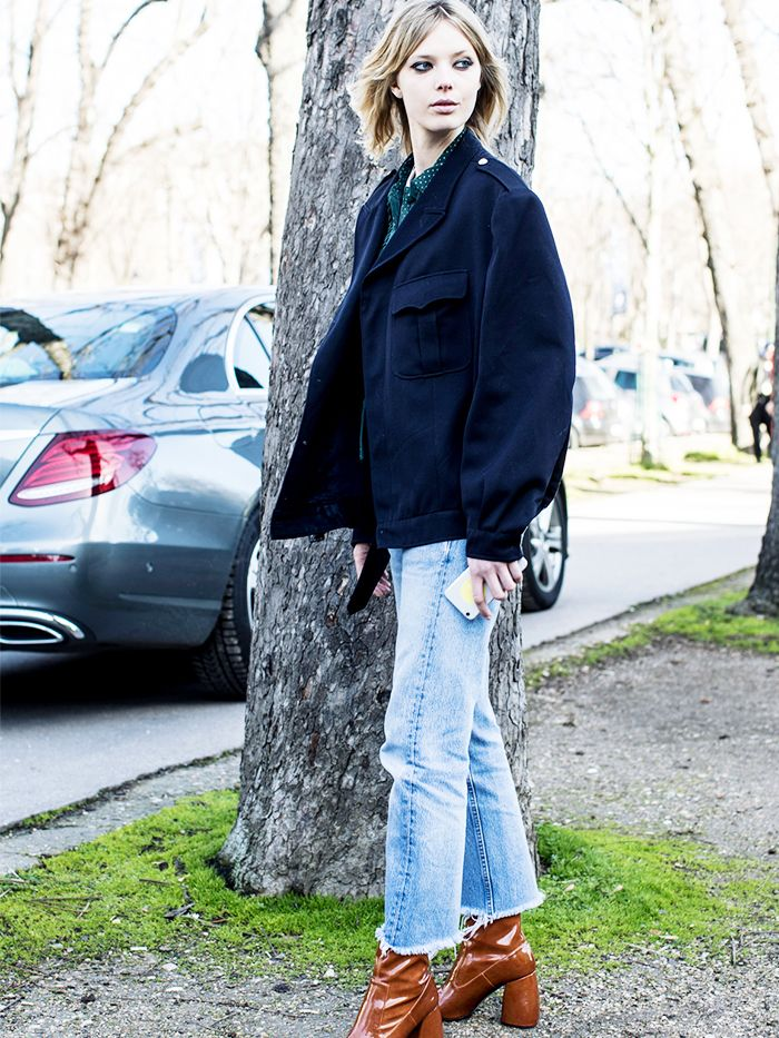 How To Wear Boyfriend Jeans In The Winter Proof It S Possible Who What