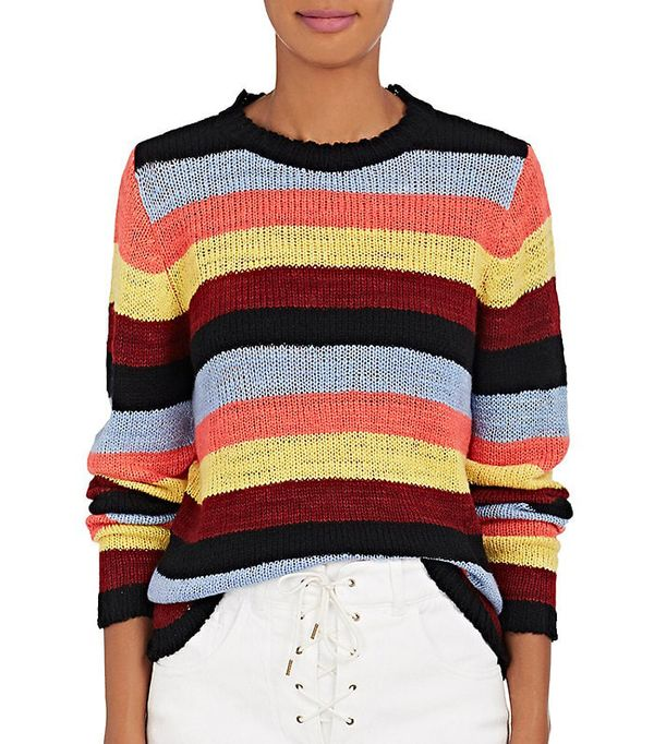 Women's Picasso Striped Cashmere Sweater