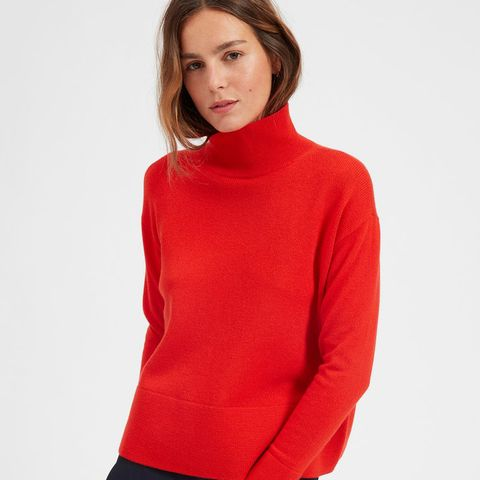 Women's Cashmere Square Turtleneck Sweater