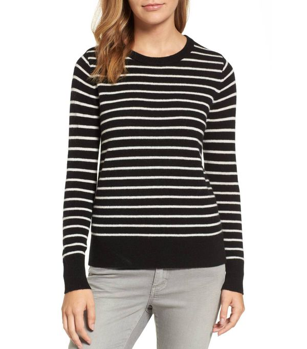 Petite Women's Halogen Crewneck Cashmere Sweater