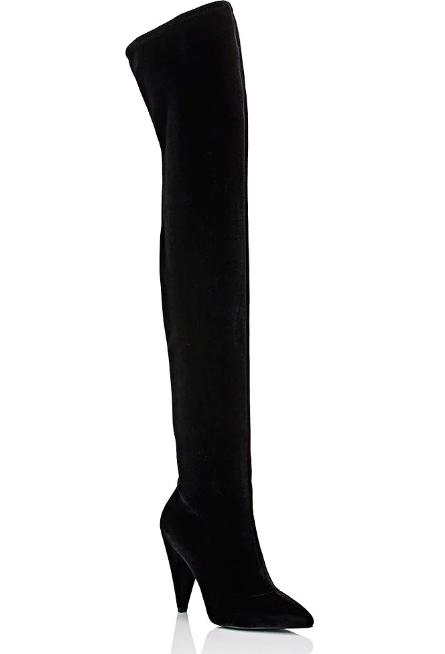 Women's Velvet Over-The-Knee Boots