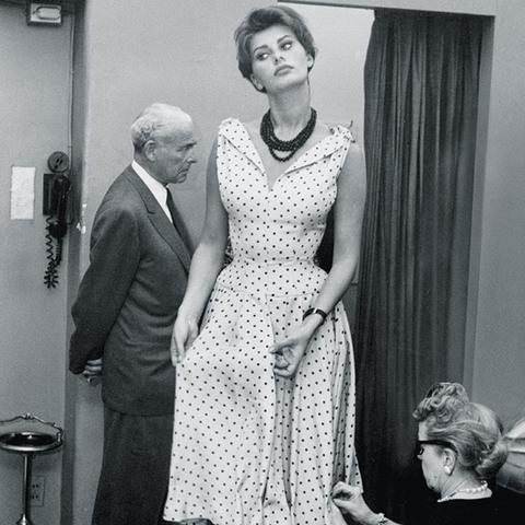 sophia loren style: wearing a polka dot dress