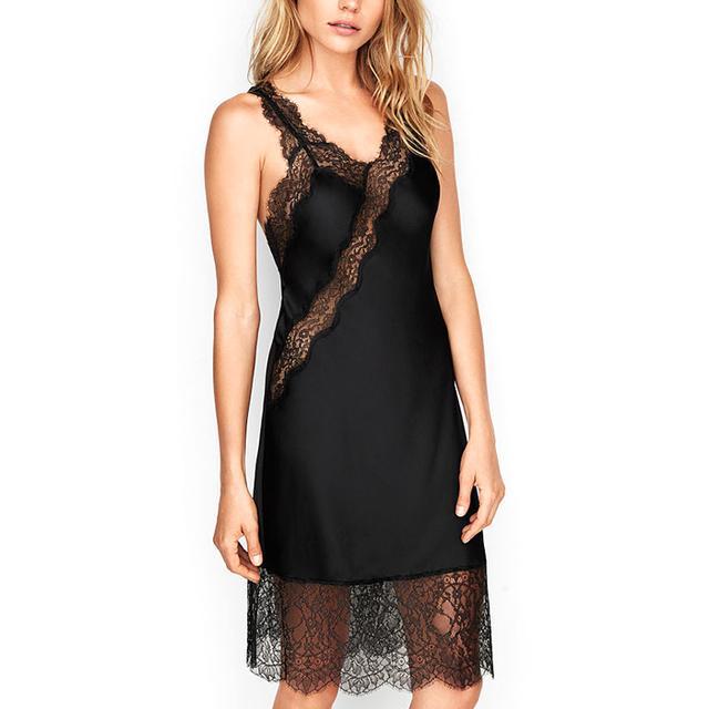 Victoria's Secret Satin & Lace Midi Slip