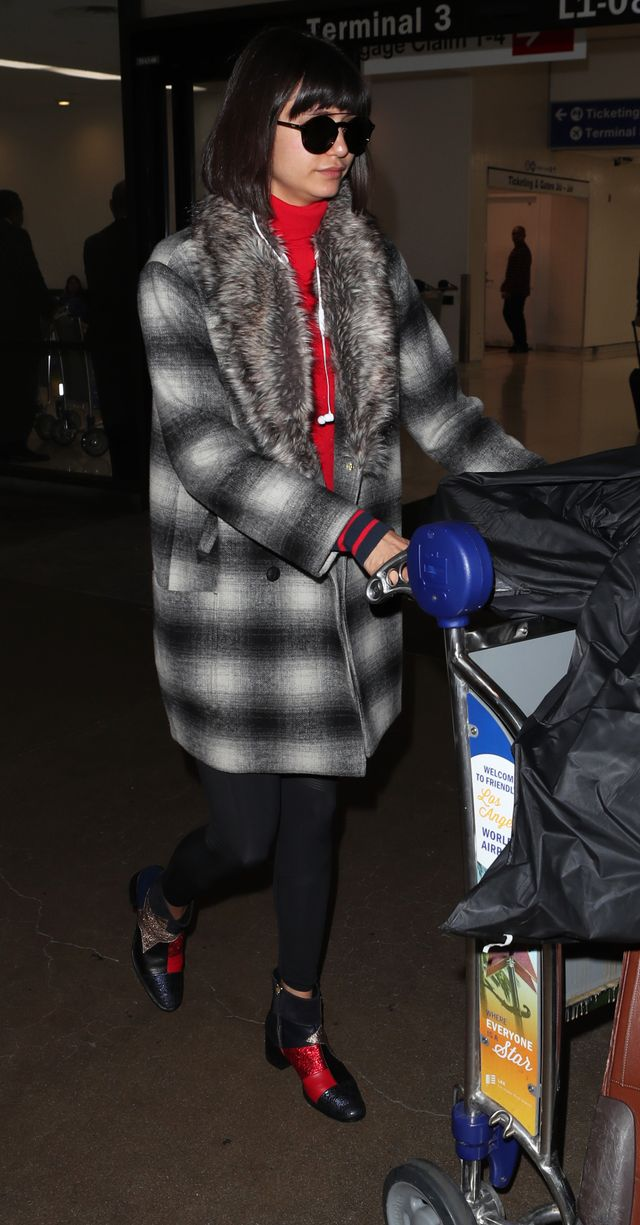 You Have to See Nina Dobrev's Embroidered Ankle Boots at the Airport