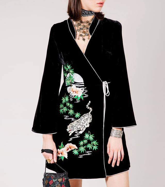Rixo Robe Iris in Noir