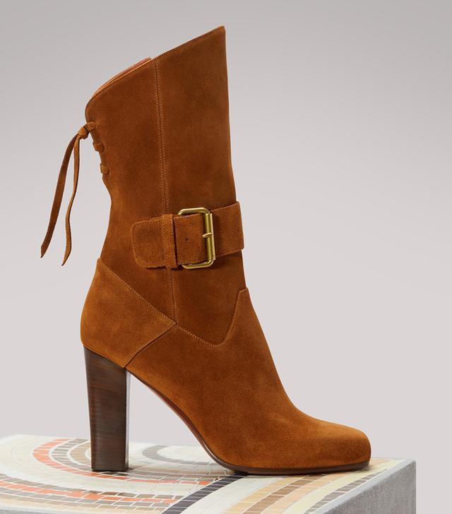 Michel Vivien Sapphire Suede Boots