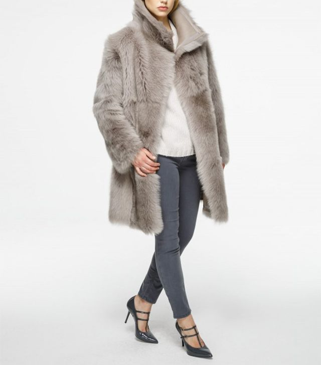 Escada Reversible Shearling Leather Coat
