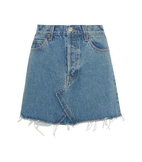 Originals Distressed Denim Mini Skirt