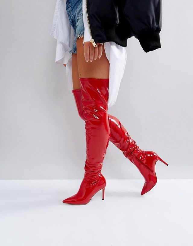 KINDY Point Over The Knee Boots