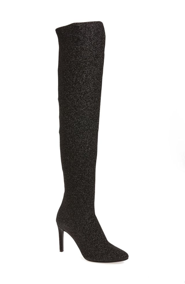 Glitter Stretch Over The Knee Boot