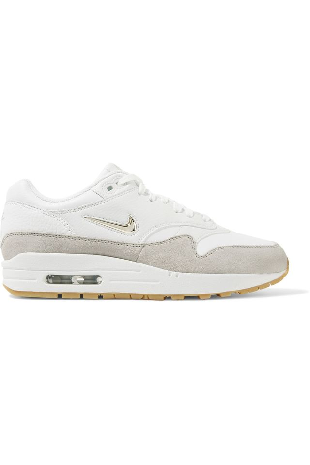 Air Max 1 Premium Suede-trimmed Leather Sneakers