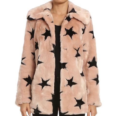 Faux Fur Swing Coat