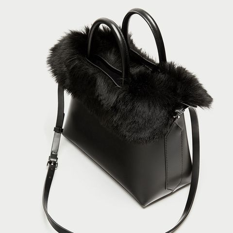 3-in-1 City Bag With Faux Fur