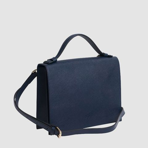 Ink Navy Top Handle Bag