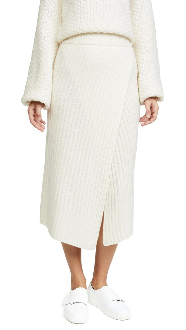 Flavie Ribbed Knit Skirt