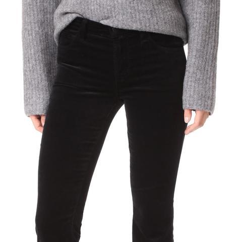 Selena Crop Boot Cut Velveteen Jeans