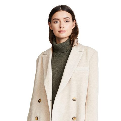Double Breasted Alpaca Coat