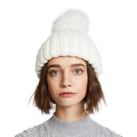Happy Trails Pom Beanie Hat