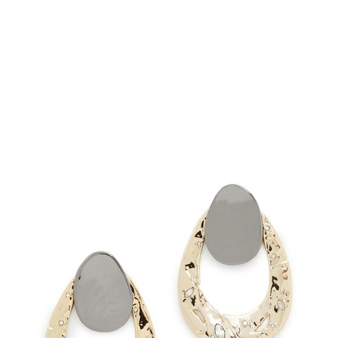 Open Hammered Earrings