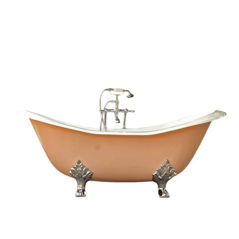 Cast Iron Double Slipper Clawfoot Bathtub