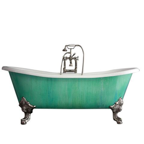 Cast Iron French Bateau Clawfoot Tub