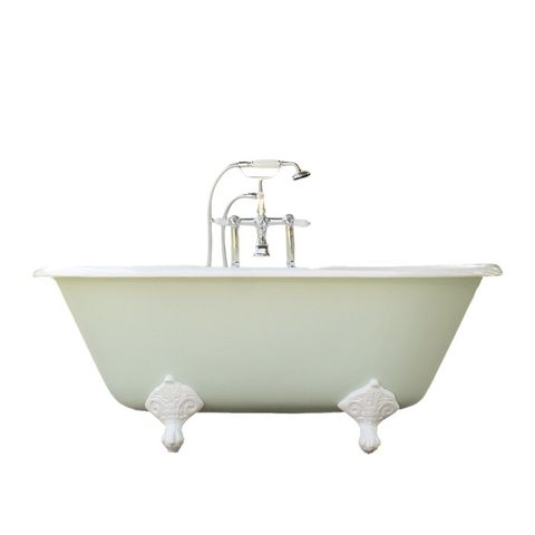 Mint GreenPorcelain Clawfoot Bathtub