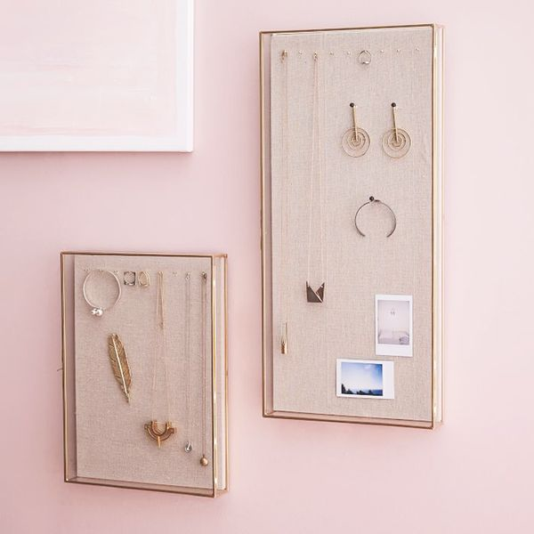 A glass shadow box adds an antique feel to your décor and lets youput your prettiest pieces on display. Shop Our Pick: West ElmGlass Shadow Box Wall Display Cases ($70–$90)