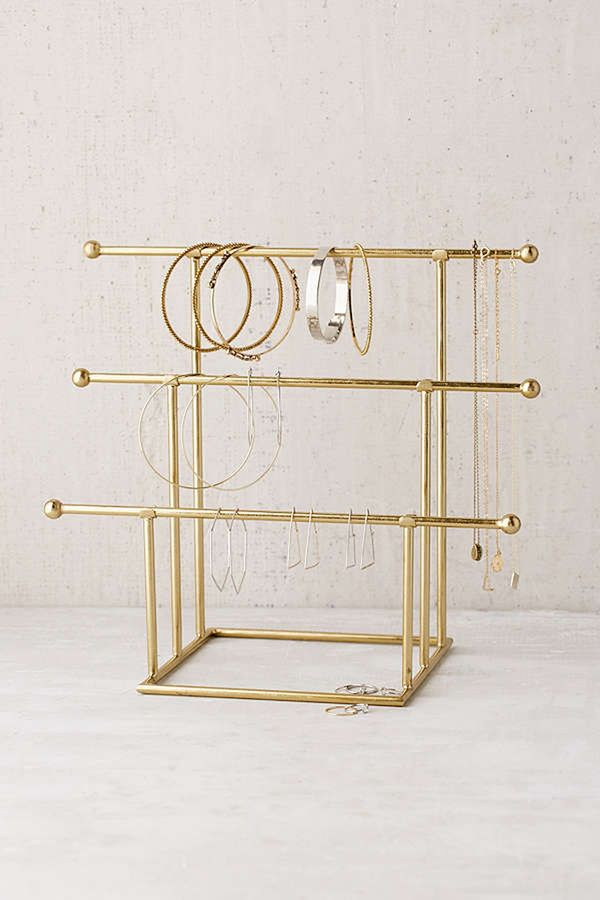 A tiered jewelry stand allows you to see everything your working with, so picking out your earrings when getting dressed is that much easier. Shop Our Pick: Urban OutfittersEmilia Tiered...