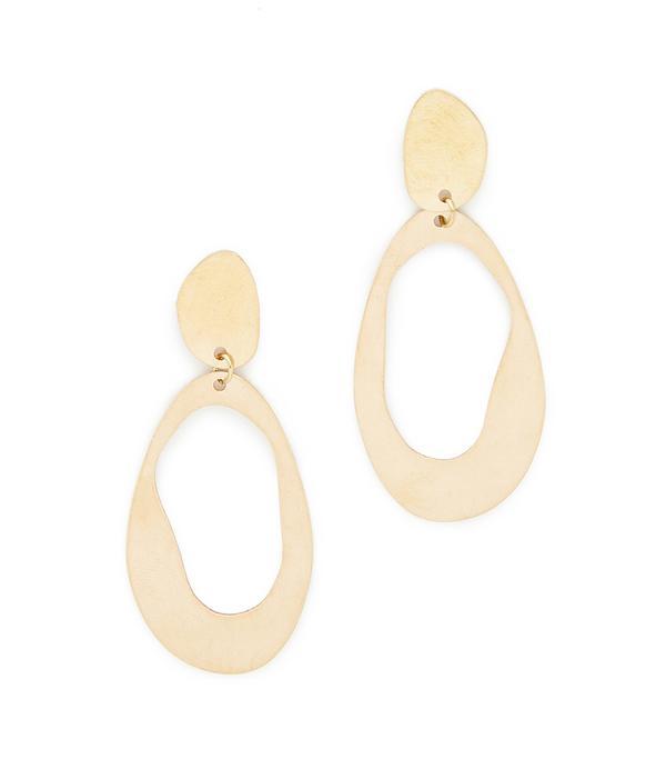 Large Oval Loop Earrings