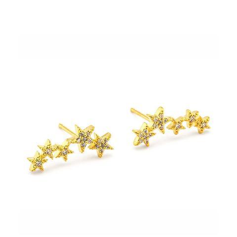 Pavé 5 Star Earrings
