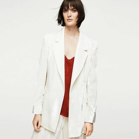 Velvet Oversize Blazer