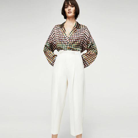 Pleat Detail Wool Trousers