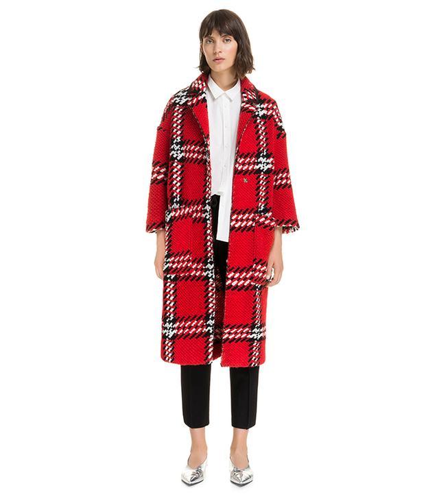 Bimba y Lola Red Chequered Coat