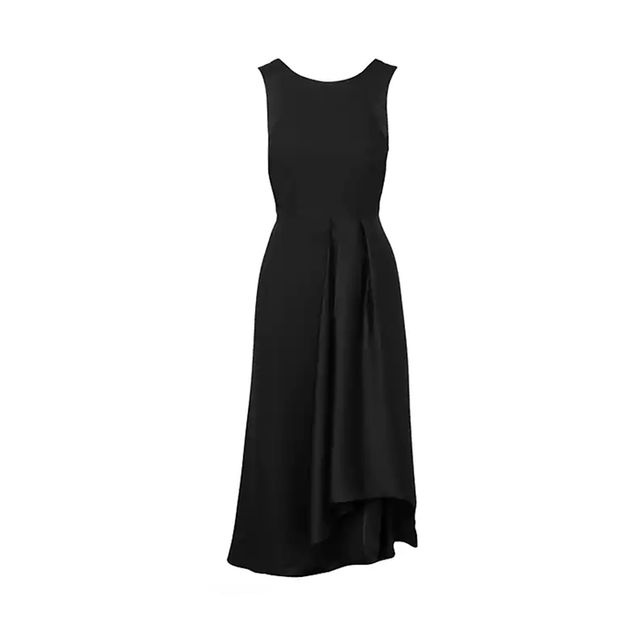 Banana Republic Satin-Trim Midi Dress