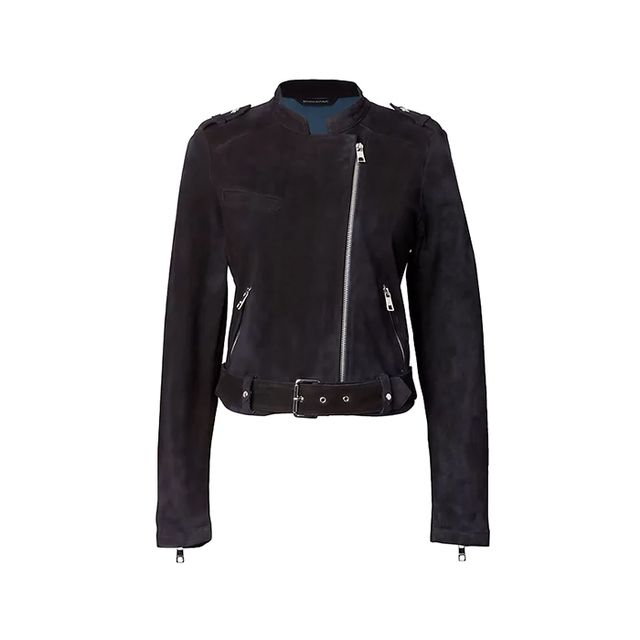 Banana Republic Life in Motion Stretch-Suede Moto Jacket