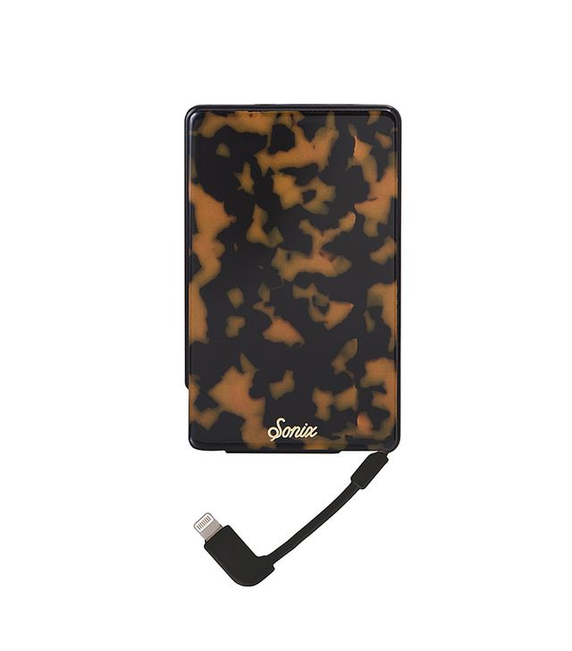Tortoise Print Portable iPhone Charger