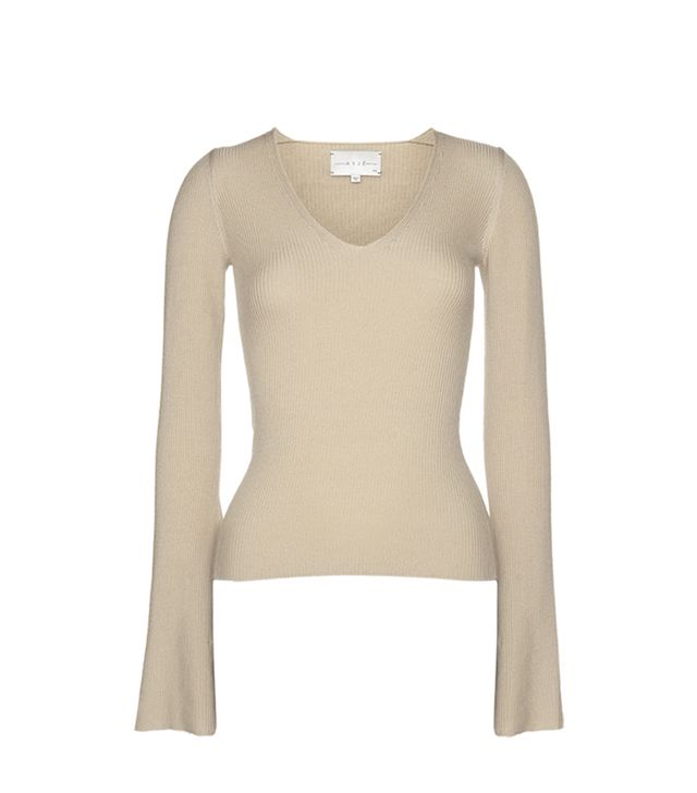 Arje The St. Moritz Wool Fitted Vneck Knit