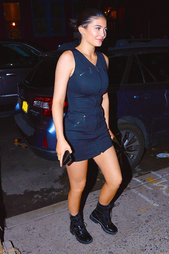 Kylie Jenner little black dress