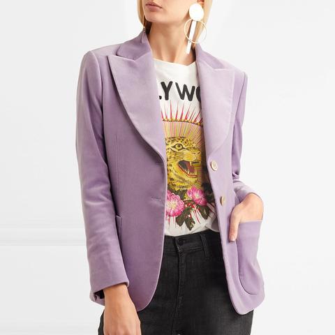 Cotton-Blend Velvet Blazer