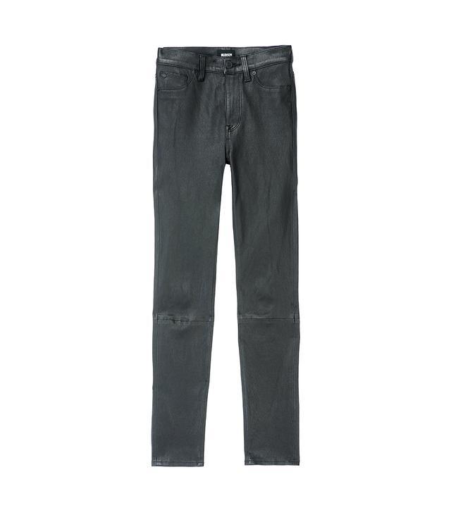 Hudson Barbara High Waist Leather Super Skinny Pants