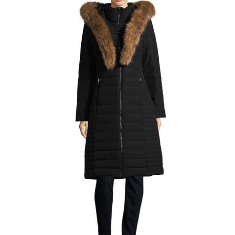 Faux Fur Trimmed Puffer Coat