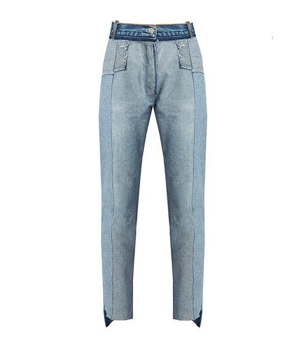 Reworked reversible skinny jeans