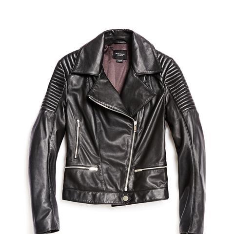 Aylin Leather Moto Jacket