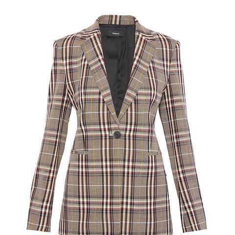 Wool Plaid Power Jacket