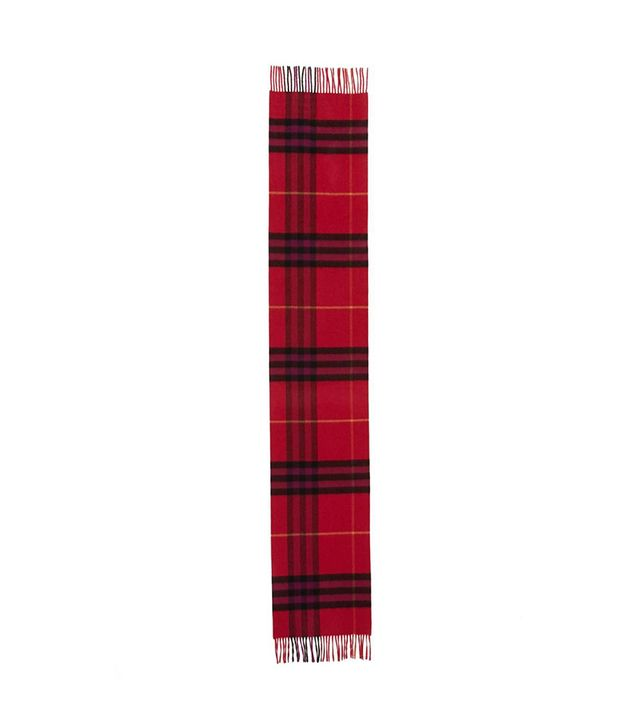 Heritage Giant Check Fringed Cashmere Muffler