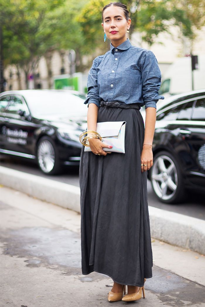 20 Outfits That Look Best With A Black Maxi Skirt Who What Wear