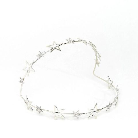 Metallic Statement Crystal Star Halo Headband