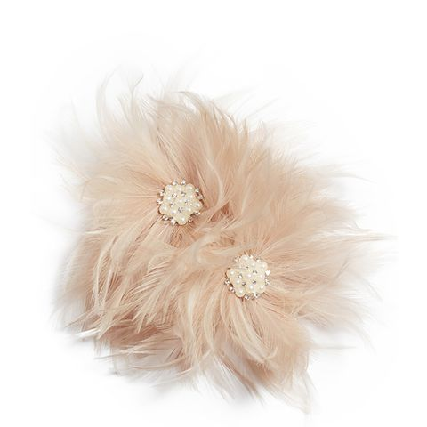 Henley Imitation Pearl & Feather Hair Comb