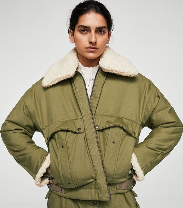 Mango Committed Faux Shearling Jacket