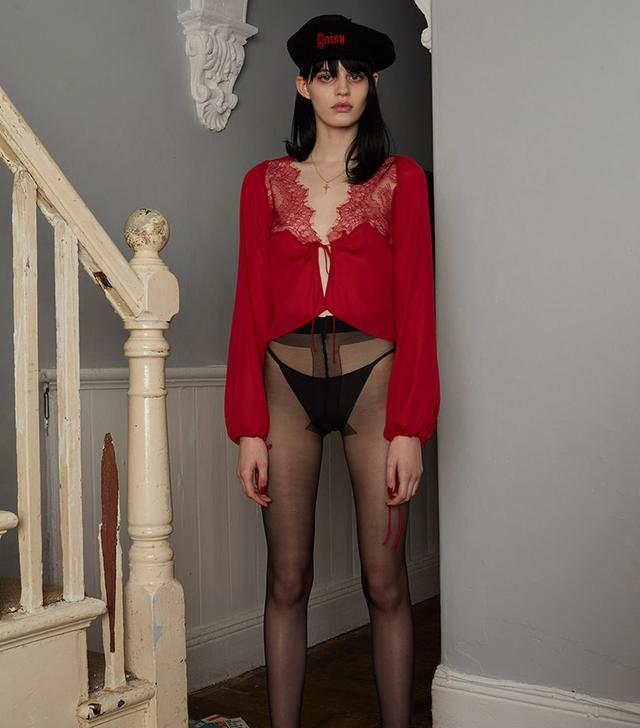 Daisy Chantilly Shirt Red